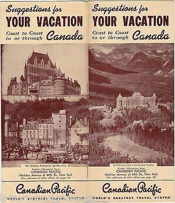 CANADIAN PACIFIC RAILWAYS CANADA VINTAGE CANADIAN VACATION SOUVENIR TRAVEL FLYER