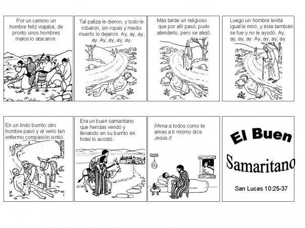 Materiales para trabajar las parábolas. El buen samaritano | Compartiendo Aula