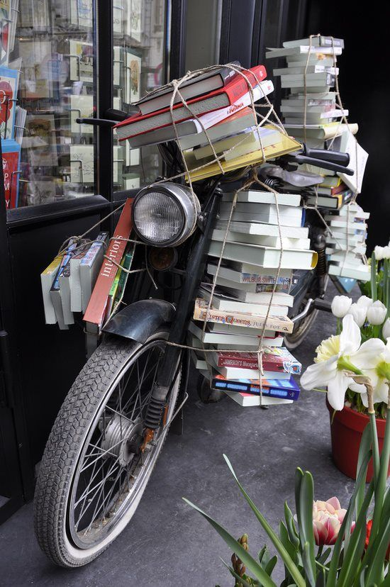 I want to own this motorcycle and ride around Europe and use it as a mobile library and just travel and read and try new foods.