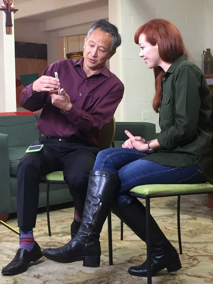 Gene Wang, CEO of People Power, explaining how Presence App works with Alie Ward of Henry Ford's Innovation Nation with Mo Rocca on CBS.