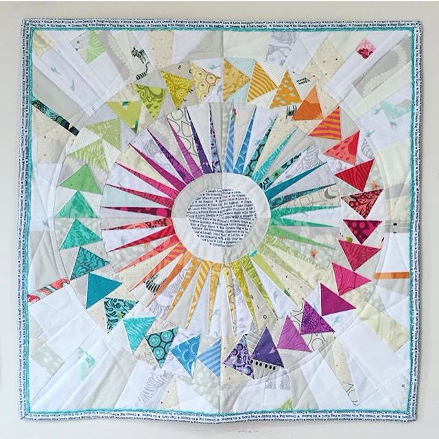 Pin to win Tula. New York Beauty Circle of Flying Geese mini quilt, made with…