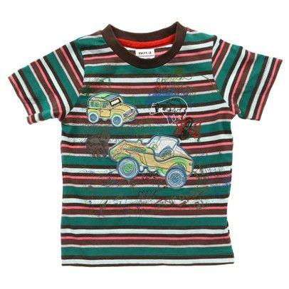 Stripe Boys Car T-Shirt-C4019Bgp $14.00 on Ozsale.com.au
