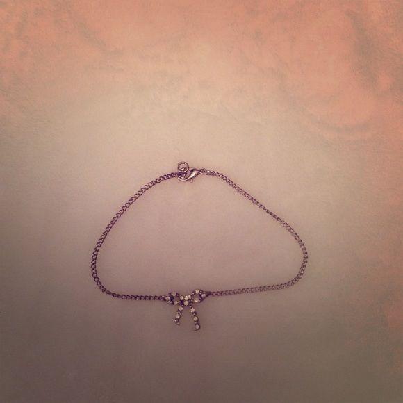 Bow tie bracelet Simple silver bracelet Charlotte Russe Jewelry Bracelets