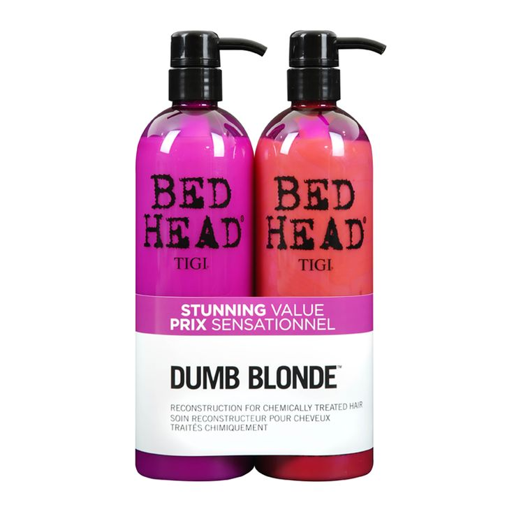 This great value TIGI Bed Head Dumb Blonde Shampoo & Reconstructor Tween Duo includes:  - TIGI Bed Head Dumb Blonde Shampoo for Chemically Treated Hair 750ml Go back to...