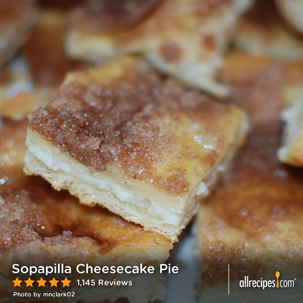 "Sopapilla Cheesecake Pie | ""This is easy and delicious. Big hit at ..."