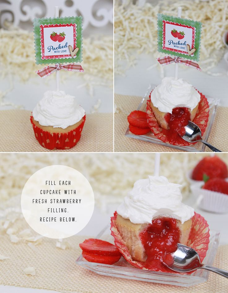 Stamp Away With Me: strawberry cupcake filling