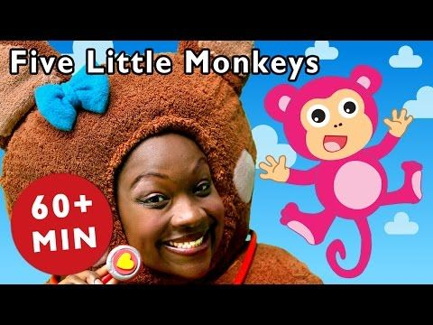Five Little Monkeys and More | Nursery Rhymes from Mother Goose Club! - YouTube
