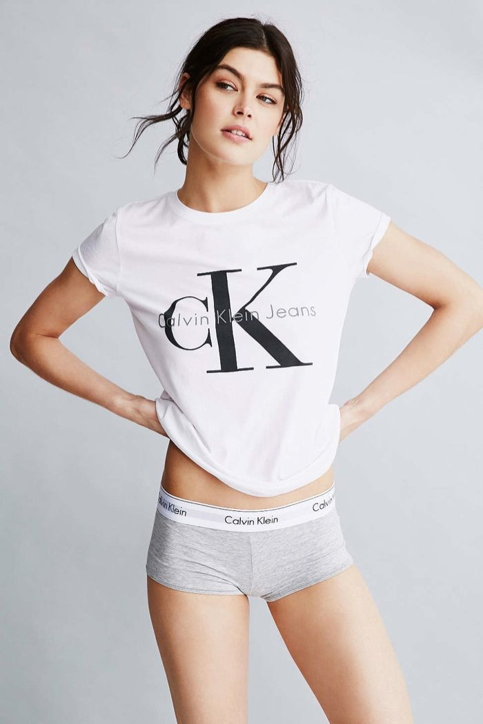 Classic logo tee shirt from iconic brand Calvin Klein, designed just for UO.