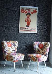 /fotel flok w kwiaty/ /lata 60/ /www.pracownia-lili.pl/