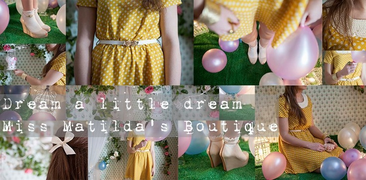 Pretty clothes, Melissa shoes and vintage inspired accessories from our online boutique. Miss Matilda's is an online ladies fashion retailer in the UK. Featuring the beautiful polka dot dress and Melissa shoes.