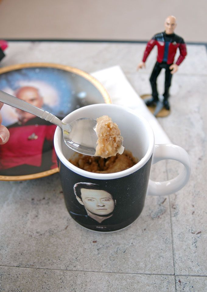 White Chocolate Macadamia and Coconut Mug Cookie - and what it's like being married to a Trekkie #StarTrek #BigBangTheory #Trekkie