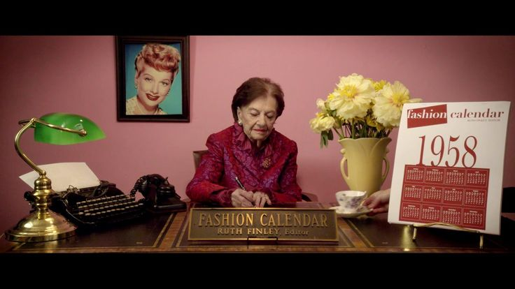 Ruth Finley's Fashion Calendar | Starring Ruth Finley. | Written and Directed by Joe Sabia. | Director of Photography: Shane Sigle.