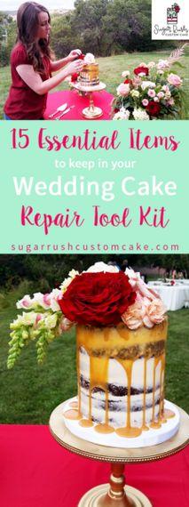 15 Essential Items to Keep in Your Wedding Cake Repair Tool Kit – Sugar Rush Custom Cake