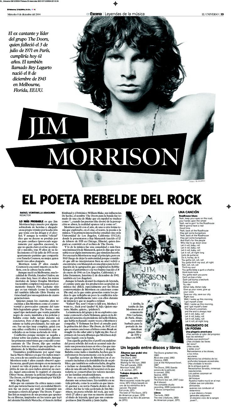 Editorial Design 2004-2013 Diana Gonzalez / dianagonzi Diario El Universo Music…