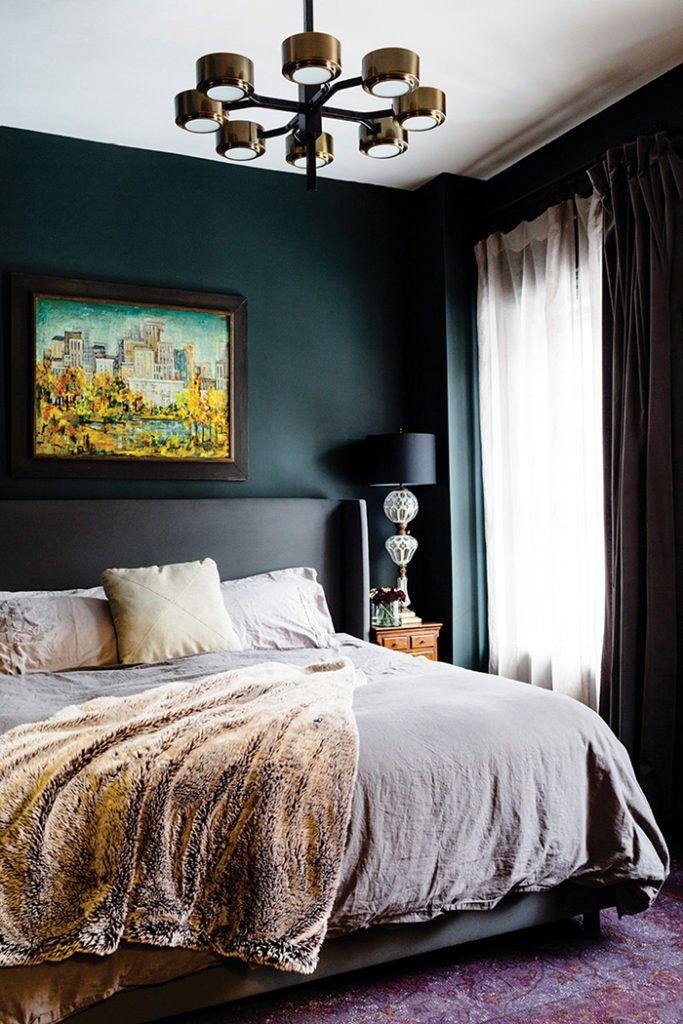 20 Ideas Para Pintar Un Dormitorio Con Colores Oscuros Y Acertar Dormitorios Pintar Un Dormitorio Decoracion De Interiores