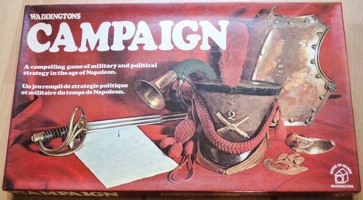 Vintage Waddingtons Campaign, Military & Political Strategy Game, Boxed Complete