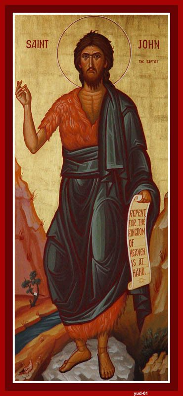 St. John the Baptist icon by the hand of Constantine Youssis