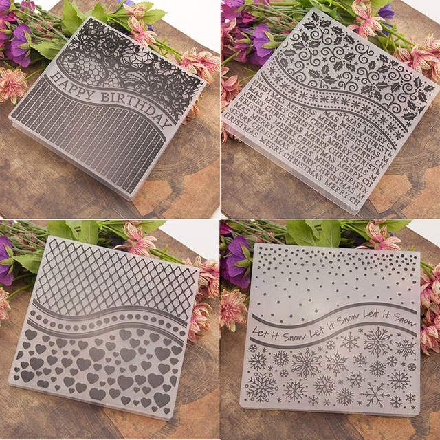 happy birthday Embossing folders Plastic Embossing Folder For Scrapbooking card/&
