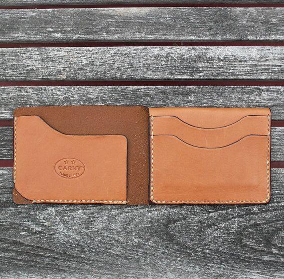 Mens Wallet minimalist leather wallet men's wallet от garnydesigns