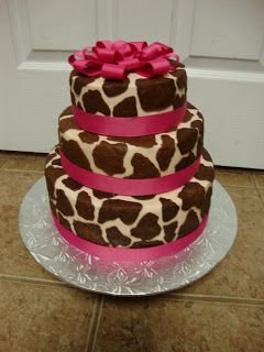 Charitys Sunshine Sweets: GIRAFFE BIRTHDAY CAKE I want my cake like this but instead of pink I want plum purple