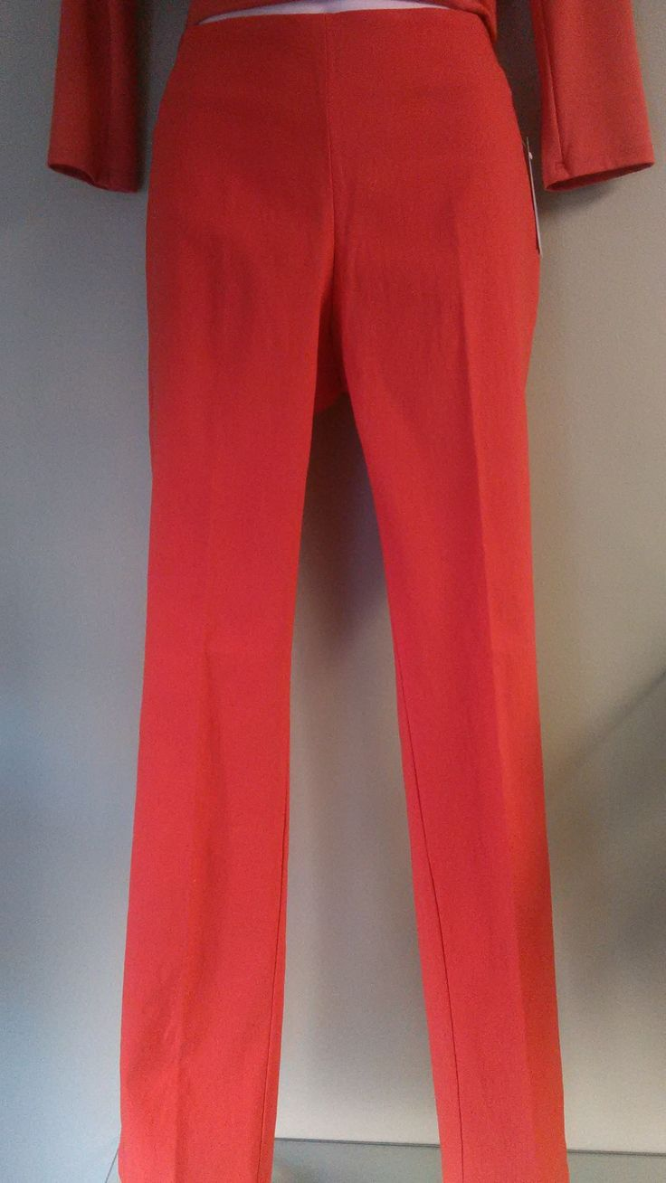 Slim Fit Pull On Pants - Deep Coral