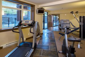 Fitness room at Palliser Lodge by Kicking Horse Lodging