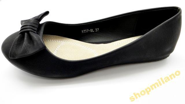 Baleriny damskie z kokardą 8357 Black rozm36-41 http://allegro.pl/baleriny-damskie-z-kokarda-8357-black-rozm36-41-i3441759862.html