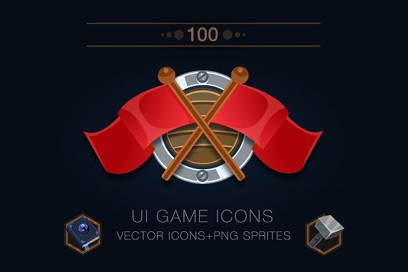 Set of 100 game icons by A|B on @creativemarket UI GAME ROYALTY FREE GAME ICONS.    Key words: game ui, game icons, game loot, 2d game art, resources for game, game elements, game sprites, png transparent, game inventory, medieval icons, fantasy rpg icons, 2d game assets, royalty free game assets, royalty free game art 2d, vector illustration.     https://www.creativegameassets.com/product-page/game-ui-icons-assets-100-items