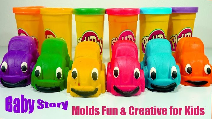 Learn Colors! Play Doh Fish Mold Fun and Creative for Kids PEZ Microwave...