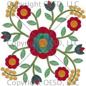Free Machine Embroidery Design Rose Of Sharon