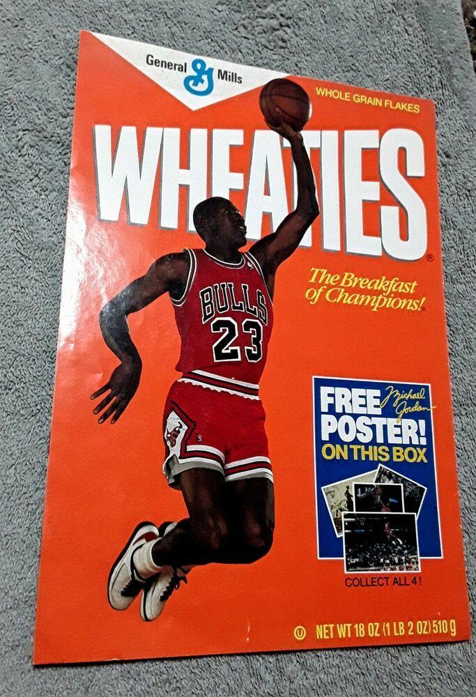 Rare 1989 Wheaties Michael Jordan Fold Out Graffiti Poster 16x23in