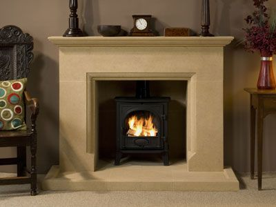 victorian-fire-surround-with-log-burner - Google Search