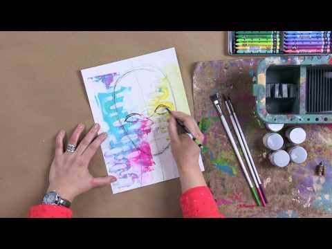 Learn to Draw Artistic Faces with Dina Wakley - YouTube EXCELLENT   She draws with a Stabilo pencil