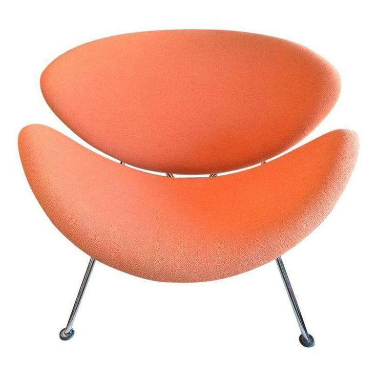 Pin By Lorna Macdougall On Garage Plans: Vintage Pierre Paulin Orange Slice Chair