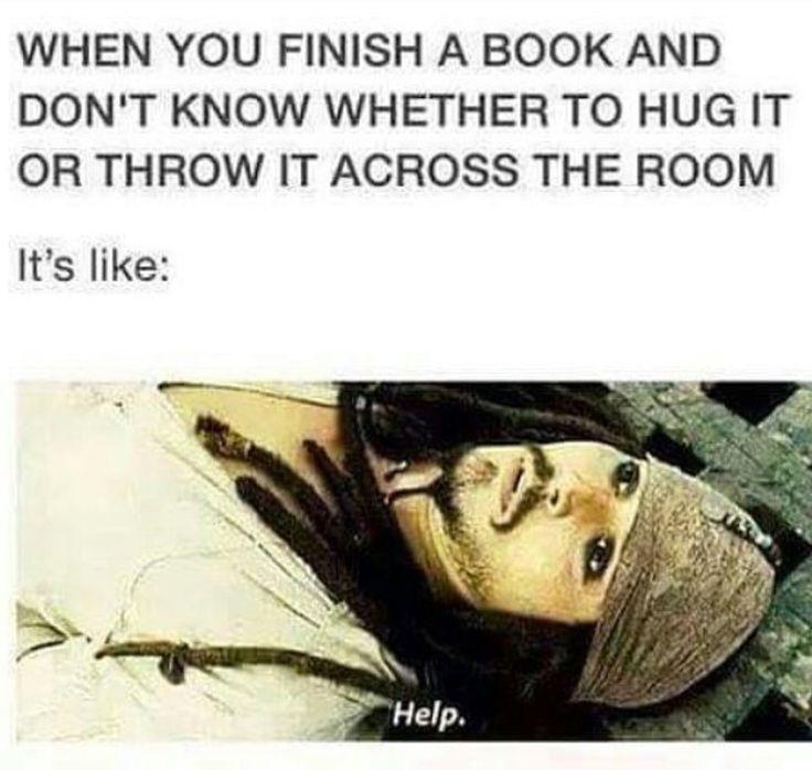Books make you need help. xD