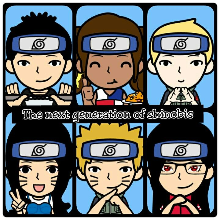 Sons and daughters in naruto shippuden