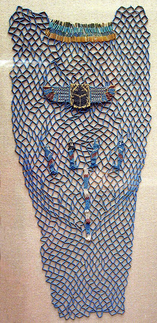 bead shroud of Tabakenkhonsu, Temple of Hatshepsut, Hathor shrine, Deir el-Bahri,  ca. 680–670 B.C.