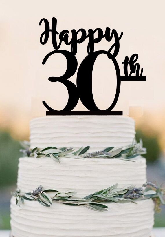 30th birthday Cake Topper,Happy 30th,acrylic cake topper, 30th birthday party decorations