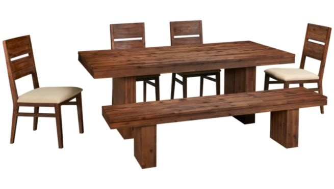 Acacia Wood Macy's Champagne Dining Room Table. This Is