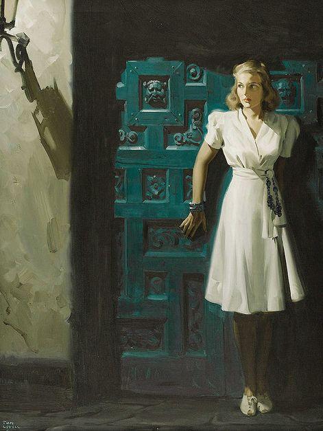 Tom Lovell Vintage Pulp Art Illustration | Female-Centric Pulp Art | Sugary.Sweet | #Pulp #Art #Illustration