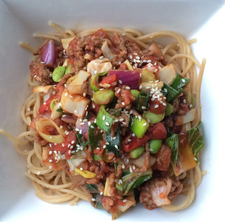 Aziatische spaghetti bolognese  Asian spaghetti bolognese by have a good food day