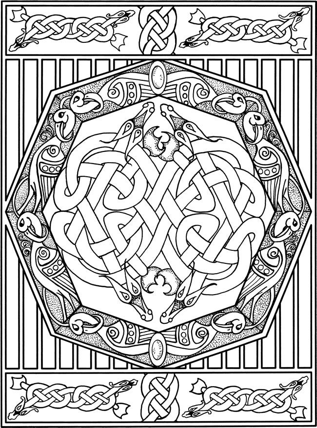 celtic adult coloring pages - photo#12