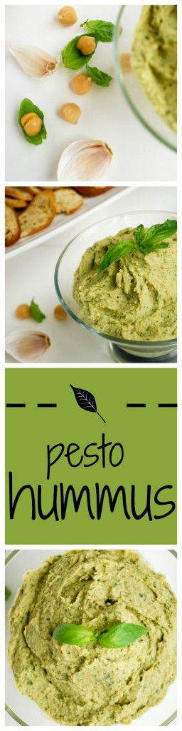 Pesto Hummus: Packed with flavor, this vegan and gluten free hummus is sure to impress! It's a healthier take on the classic Italian pesto! || fooduzzi.com