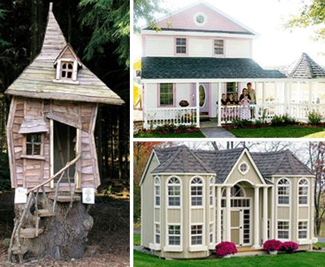 65 best playhouses for children images on pinterest doll for Whimsical playhouse blueprints