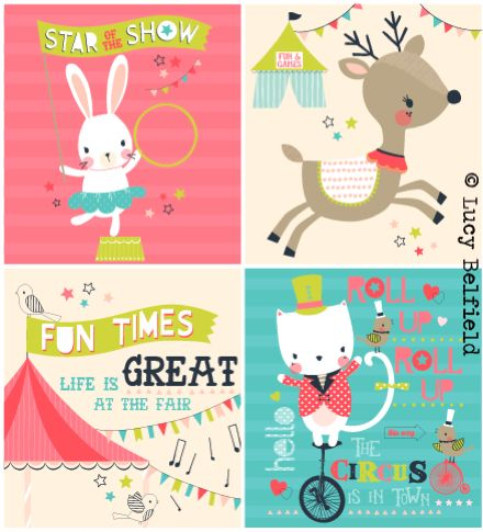 Lucy Belfield Design and Illustration: Cute Circus