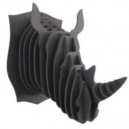 Cabeza Decorativa Rinoceronte Negro Safari