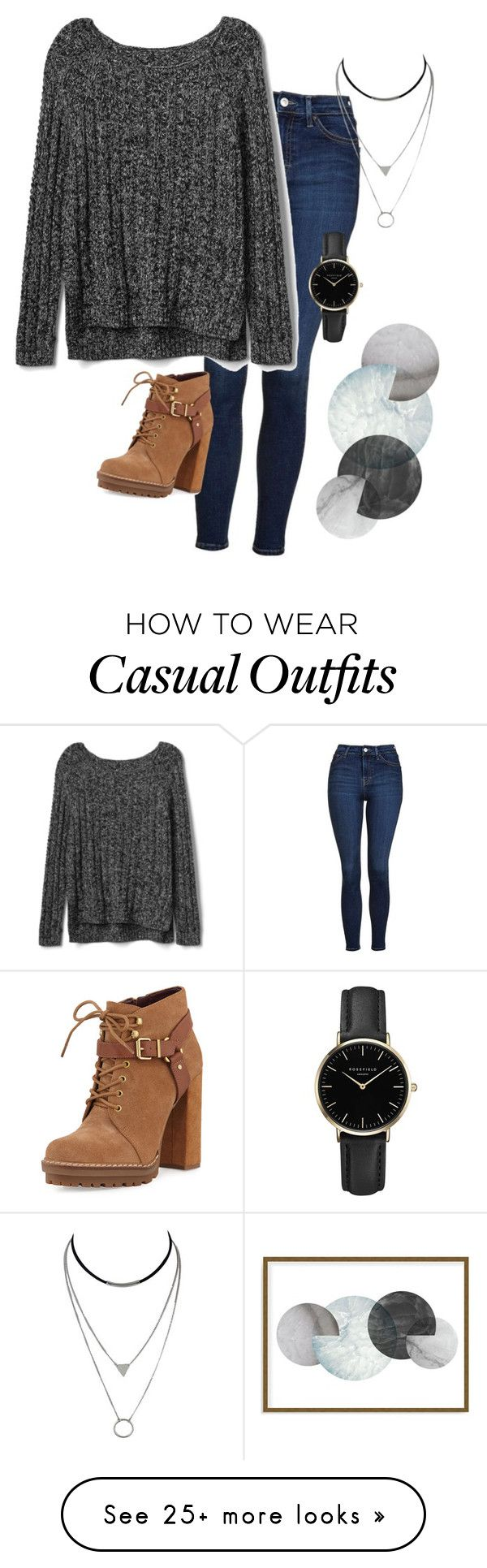 """casual monday"" by evergreensage on Polyvore featuring Topshop, Gap, BCBGeneration, ROSEFIELD and Art Addiction"