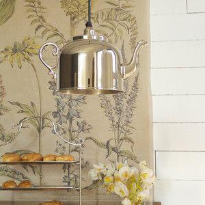 Stropní svítidlo ve tvaru čajové konvice Orchidea Milano Kettle Plata,28cm