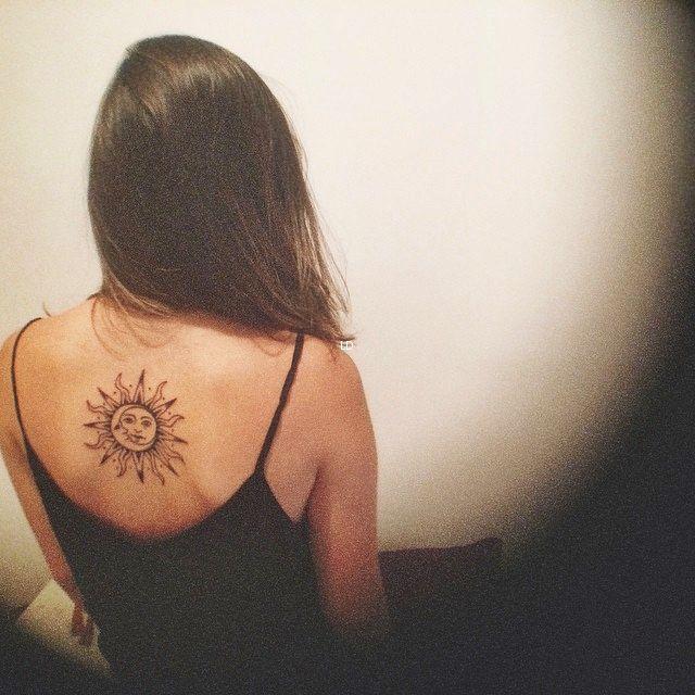 Sun and the moon tattoo
