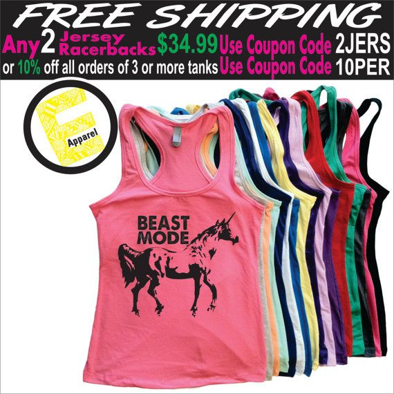 Beast Mode. Womens Clothing. Exercise. by ElevatorApparel on Etsy